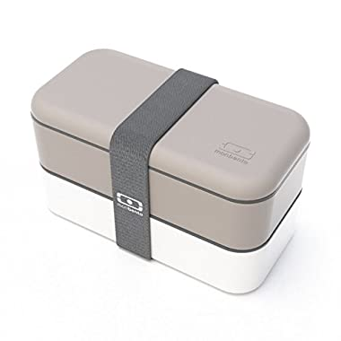 Monbento MB Original Bento Box (Grey & White W/ Grey Band)