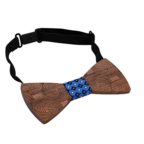 Tuxedo Adjustable Wedding Wood Handcrafted for Bow Party Blue Walnut Ties Mr Van Mens Wooden Natural Bowties x7qOw1Tz