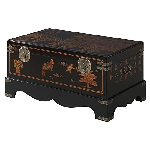 Cheap Convenience Concepts Touch of Asia Coffee Table with Storage, Black