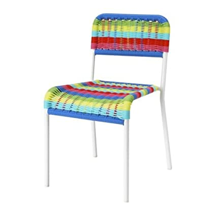 Amazon.com: IKEA Childrens Chair, Multicolor Indoor/Outdoor ...