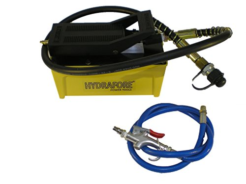 Air Hydraulic Foot Pump with Hose and Coupler 10000 PSI 1/2 gal B-70BQ by HYDRAFORE