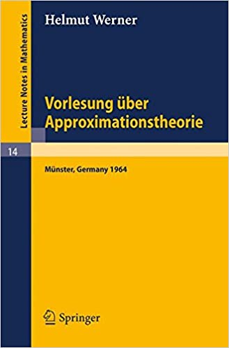 Book Vorlesung über Approximationstheorie (Lecture Notes in Mathematics)