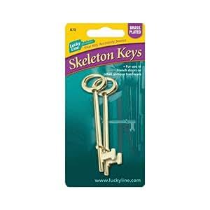 Lucky Line 87002 Skeleton Keys Door Lock Replacement