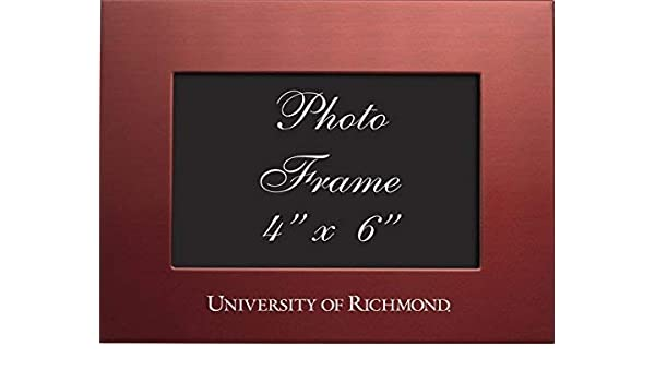 Blue University of West Florida 4x6 Brushed Metal Picture Frame