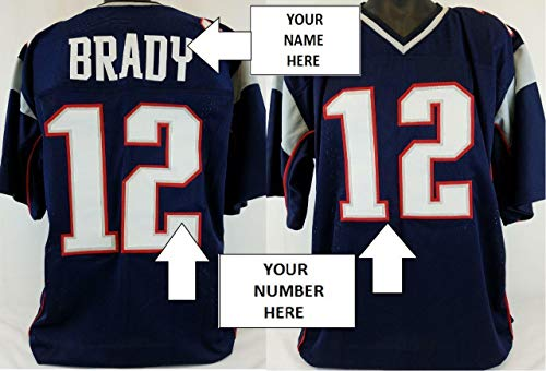 (CUSTOM Men's Football Jersey ANY HOME TEAM Personalized Name/Number L,XL,2X,3XL - Autographed NFL Jerseys)
