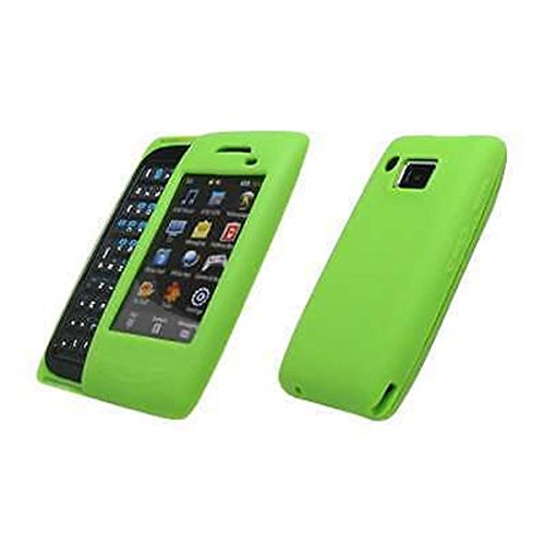 (Premium Neon Green Soft Silicone Gel Skin Cover Case for Samsung Impression A877 [Accessory Export Packaging])