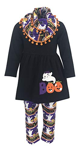 Unique Baby Girls 3 Piece Halloween Legging Set (2t) Black ()