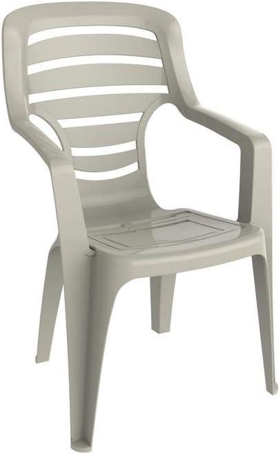 resol grupo Pireo Set de 2 sillones para Exterior, jardín, Crema