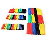 328pcs Heat Shrink Tubing Mayitr Polyolefin 2:1 Electrical Wrap Wire Cable Sleeving 5 Colors