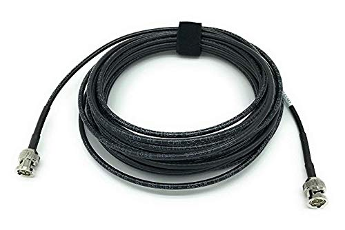 AV-Cables 12G 4K HD SDI BNC - BNC Cable Belden 4855R Mini RG59 (50ft, Black)