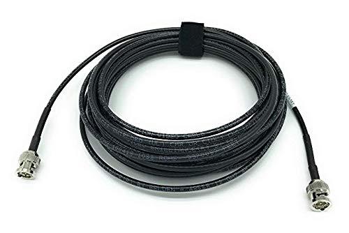 Cable Av Black - AV-Cables 12G 4K HD SDI BNC - BNC Cable Belden 4855R Mini RG59 (50ft, Black)