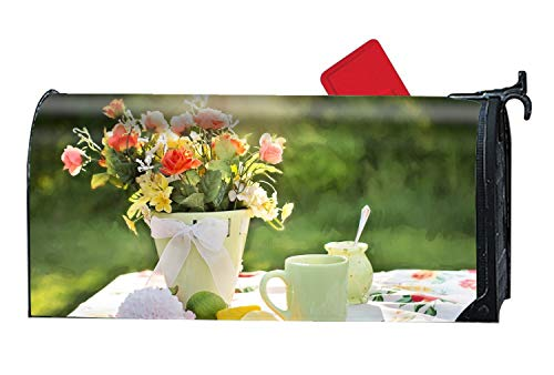 (BABBY Seasonal Mailbox Covers Flowers Vase Tableware Lime Mail Box Cover for Spring,Summer,Fall/Autumn and Winter)