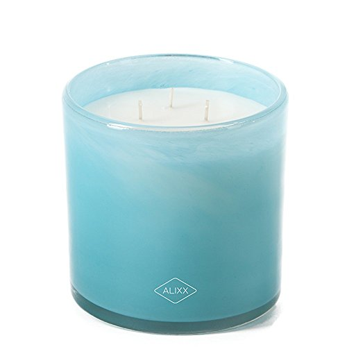 - Alixx Sea Breeze Large Sky Blue 200-Hour Three Wick Glass Candle