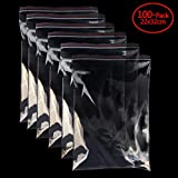 """Clear Organizer Bags A4 8.7""""x12""""Reusable Zip Bags 1.8 mils Thick Pack of 100 Poly Bags"""