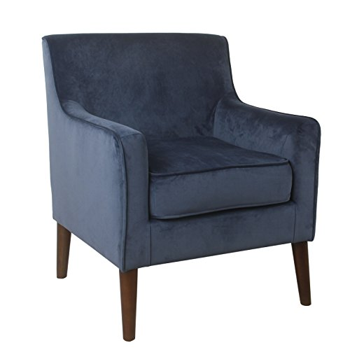 Spatial Order Kaufmann Modern Velvet Accent Chair, Blue Velvet Review