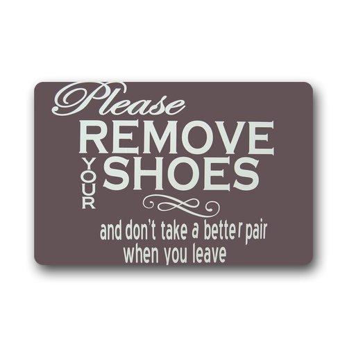 Custom decorative Door Mat Funny Words Please remove your shoes machine-wahable indoor/outdoor Doormat