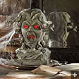 Medusa Animated Lighted Motion & Sound Halloween Decor Bust
