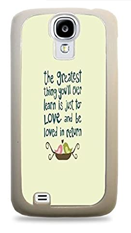 Cinderella Love Quote Phone Case White Hardshell Case for Samsung Galaxy S4 (Cinderella Phone Cases Galaxy S4)