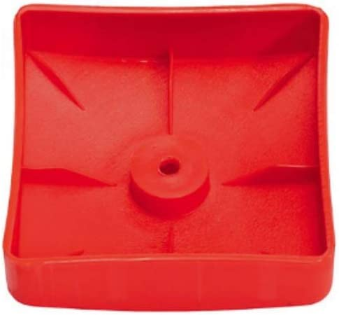 Vert et rouge Lot de 10 cache-poteaux en plastique H2i Forme : pyramide 91 mm Diam/ètre : 121 mm Diam/ètre : 101 mm