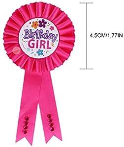 Kids /'4 Today/' Sash Children/'s Birthday Party Banner Decoration Bag Badge Blue