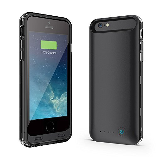 Niubity Mfi Certified 4000 mah Removable Rechargeable Battery Case for iphone 6 Plus / 6S Plus - Black