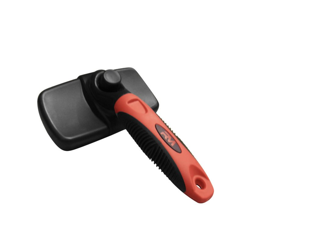 Slicker Brush for Dogs and Cats, Professional Self Cleaning Retractable Brush by Ruff and Meow