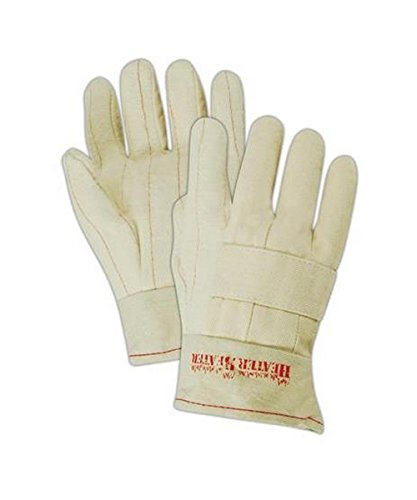 Large 29 oz Hot Mill Gloves with a Knuckle Strap and Band Top Cuff (398KBT) - 12 Pairs Hot Mill Knuckle Strap
