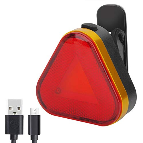 Redcloudx Sport LED Rear Bike Light USB Rechargeable - Ultra Bright Powerful Safety Bike Tail light, 7 Light Modes Options, IPX5 Waterproof, Triangle warning, Accessories Fits On Any Bikes and Helmets