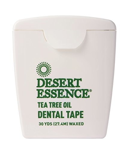 Desert Essence Tea Tree Oil Dental Tape - 30 yards - 2 Pack - Naturally Waxed w/Beeswax - Thick Flossing No Shred Tape - On the Go - Removes Food Debris Buildup - Cruelty-free Antiseptic