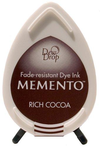 Tsukineko Memento Dew Drop Fade Resistant Inkpad of All Kinds, Rich Cocoa