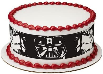Admirable Star Wars Darth Vader Storm Trooper Cake Strips Licensed Edible Personalised Birthday Cards Vishlily Jamesorg