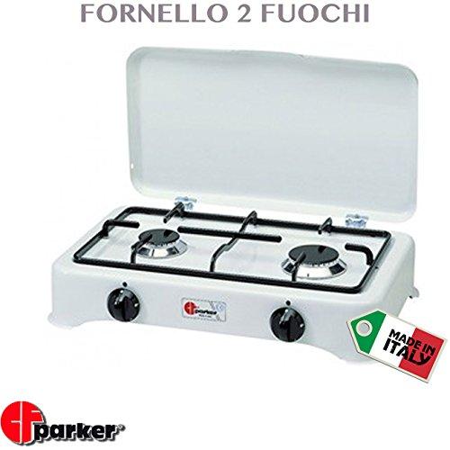 FORNELLO ELETTRICO CAMPEGGIO A GAS 2 FUOCHI REGOLABILE PROFESSIONALE PARKER