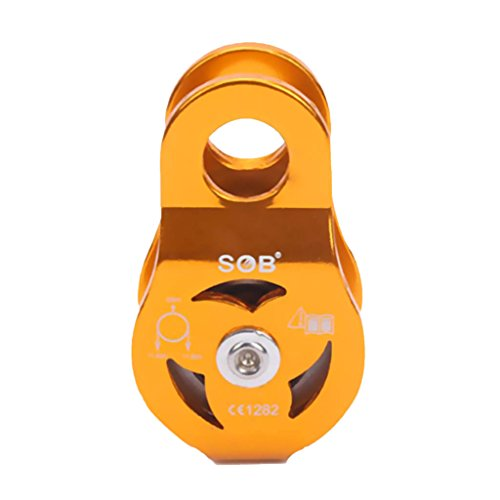 DYNWAVE 23KN Single Fixed Pulley for Rescue Lifting Climbing 8-13mm Rope Access ()