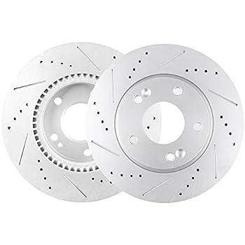 Sonata Front Black Drill Slot Brake Rotors+Ceramic Pads For Hyundai Tiburon