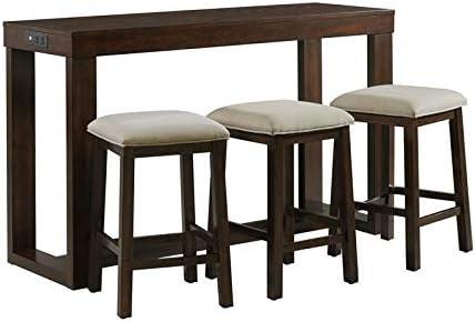 BOWERY HILL Drew Multipurpose Home Bar Living Room Sofa Table Set