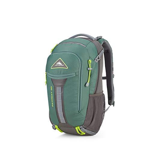 High Sierra Pathway Internal Frame Hiking Pack, 30L, Pine/Slate/Chartreuse