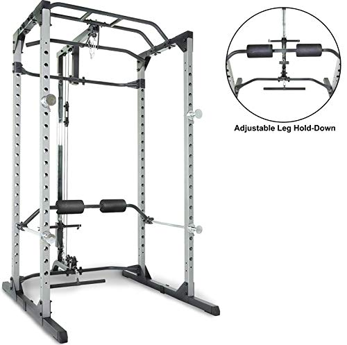 Fitness Reality 810XLT Super Max Power Rack Cage with LAT Pull Down and Low Row Cable Attachment (Best Lat Exercises At Home)