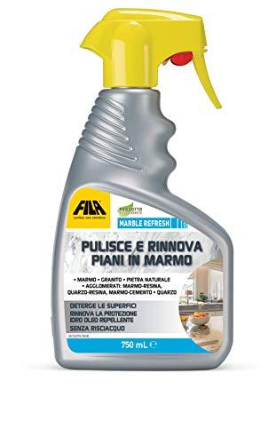Marble Refesh reinigingsspray voor marmer, kwarts, graniet, reinigt en vernieuwt de bescherming van de topkeuken, 750 ml