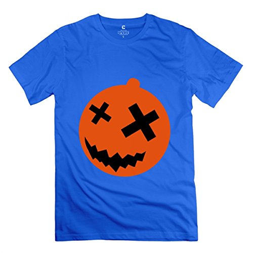 Halloween Pumpkin 2 Royal Blue Adult Standard Weight T-Shirt For Men -