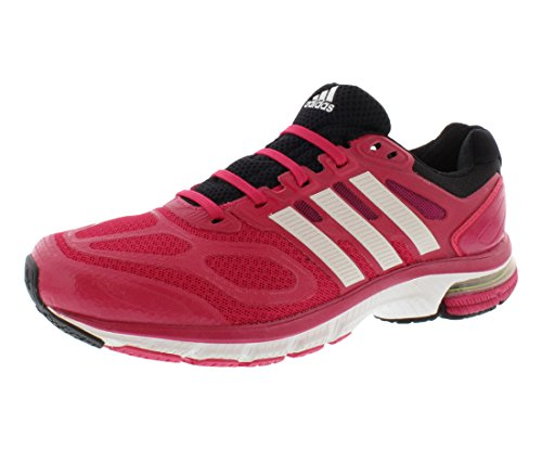 adidas Running Womens Supernova Sequence 6 W Bahia Pink/Running White/Black Sneaker 8.5 B (M) (Adidas Supernova Glide 6)