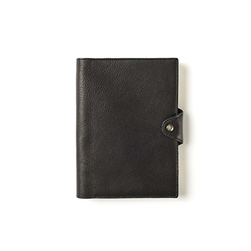 with Pen Loop - Full Grain Leather - Black Onyx (black) ()