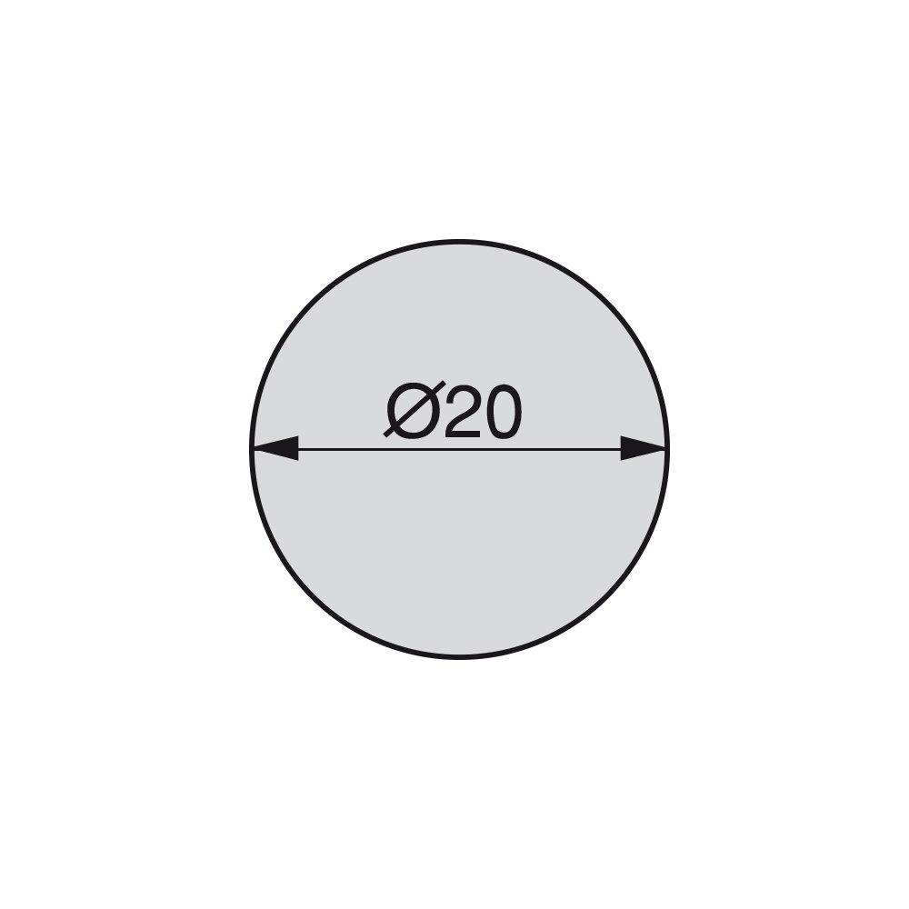 13 mm Kirsche Emuca 4026426 Selbstklebende Abdeckungen /Ø13mm Set je 200 St/ück