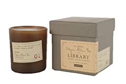 Paddywax Candles Library Collection Edgar Allan Poe Soy Wax Candle, 6.5-Ounce (Cardamom, Absinthe, Sandalwood)