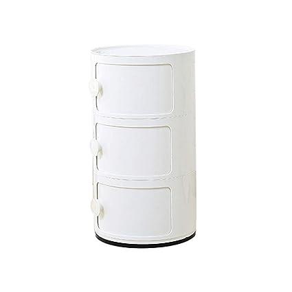 AJZXHE Armadietti, scatole portaoggetti di plastica con porta ...