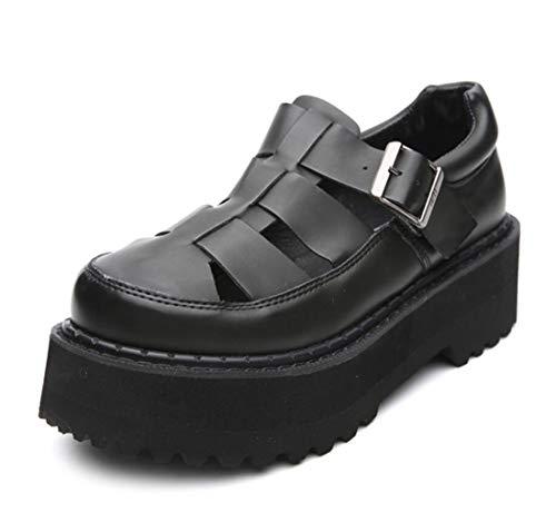 d'automne Chaussures Boucles DANDANJIE Femme Onecolor Découpe Oxfords Comfort Street Shooting 36EU Occasionnels Chaussures xwxz1BEqt