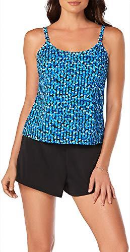 (Trimshaper Opti Dot Farrah Slimming One Piece Romper Swimsuit (6520304) 18/Blue)