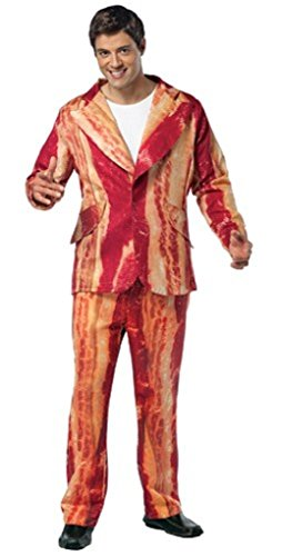 [Adult Bacon Suit Costume - One size fits most] (Bacon Suit Adult Costumes)