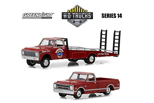 Chevy C-30 Ramp Truck with C-10 Pick up, Red - Greenlight for sale  Delivered anywhere in USA