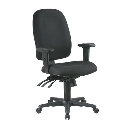 (Ergonomic High Back Chair with Multi Function Control, Ratchet Back, Adjustable Arms and Grade A Ic )