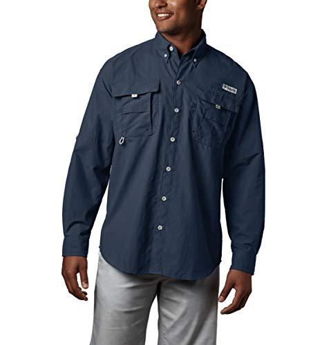 (Columbia Men's PFG Bahama II Long Sleeve Shirt , Collegiate Navy, Large)